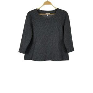 J.Jill Houndstooth Printed Ponte Pullover Sweater